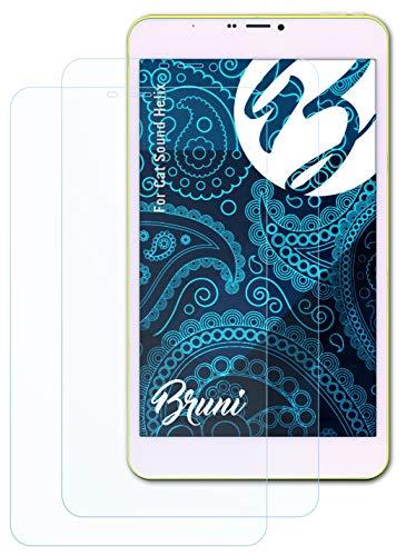 Bruni Schutzfolie kompatibel mit Cat So& Helix Folie, glasklare Bildschirmschutzfolie (2X)