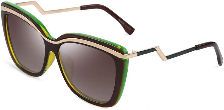 Fashion Big Box Polarized Sunglasses Ladies Trend Sunglasses Driver Driving Driving Mirror Brown