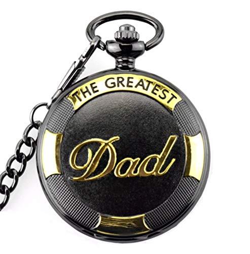Reloj de bolsillo retro para el día del padre con colgante de...