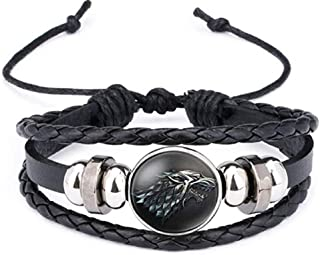 Supersenter: Game of Thrones Themed Leather Braided Bracelet for Men and Women