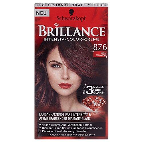 Schwarzkopf Brillance Intensiv-Color-Creme Stufe 3, 876 Mahagoni, 1 Stück