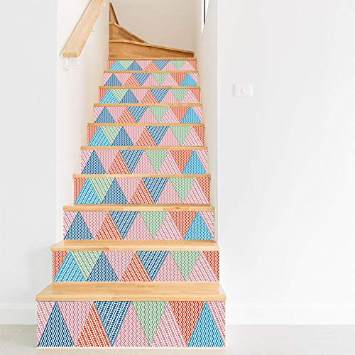 Diy Schritte Aufkleber Abnehmbare Treppe Aufkleber Wohnkultur Keramikfliesen Muster Wandaufkleber Für Kinderzimmer Wohnzimmer Schlafzimmer