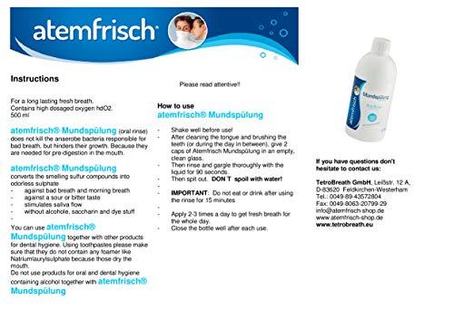 TetroBreath Mundspülung Atemfrisch mit hd02 noch frischer gegen Mundgeruch, 500 g - 3