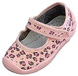 ARS Botas para Niñas Zapatillas Estar por casa per Nina Zapatos Bebe Niña Plantilla de Cuero Primeros Pasos 20 21 22 23 24 25 (Manchas Rosa, Numeric_25)