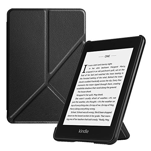 Fintie Origami Hoes voor All-New Kindle Paperwhite (10th Generation, 2018 Release) - Slim Fit Stand Cover Handsfree Reading met Auto Sleep/Wake voor Amazon Kindle Paperwhite E-Reader, Zwart