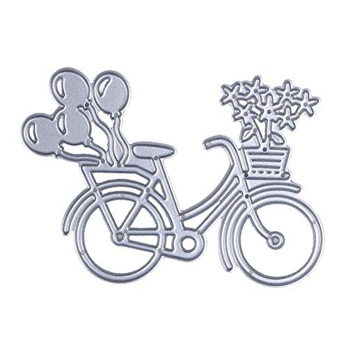 Demiawaking 1Pcs Metall Fahrrad Form Schneiden Schablonen DIY Sammelalbum Dekor Papier Karten, Metall Buchzeichen, Metall Lesezeichen als Geschenk Fuer Freunde (3)