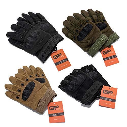 GP-PRO Motorradhandschuhe Taktische Handschuhe Vollfinger & Halbfinger Handschuhe für Motorrad, Roller, Fahrrad, Airsoft, Paintball, Sport & Outdoor