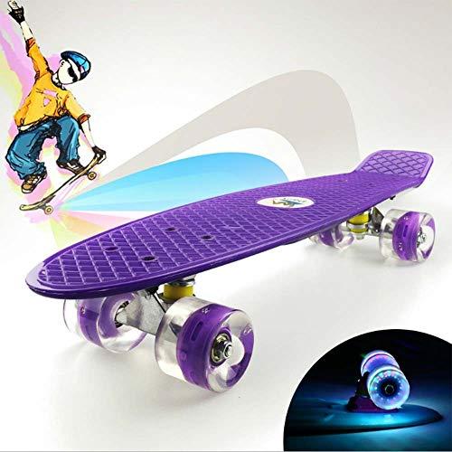 DWEMM Mini Cruiser Skateboard Retro Komplettboard, 22