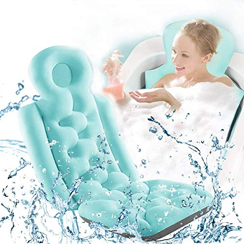 ZWPY Bath Pillow, Luxury Headrest Bath Cushion for Tub, with Head, Neck, Shoulder and Back Support, Suitable for All Bathtubs,C