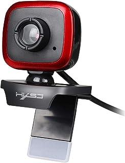 كاميرا ويب كاميرا ويب فيديو بدقة A849 480 بكسل قابلة للتعديل بدقة 360 درجة بدقة عالية مع ميكروفون (أسود أحمر) كمبيوتر (الل...