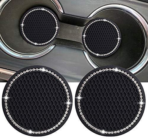 Lipctine Cup Holder Coaster 2PCS 2 75 Inch Car Interior Round Cup Holder Pad Set Auto Cup Holder product image
