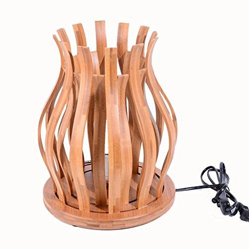 GKJ Bambou lampe de chevet lampe de table lotus lighting☀bamboo chambre Zen chambre salon de thé salon bambou lampe de table (24 * 28 cm) Variété