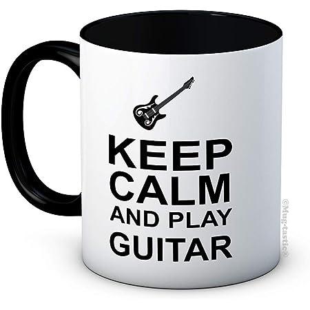 Keep Calm and Play Guitar - Guitarist Funny Ceramic Coffee Mug
