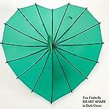 フォートアンブレラ Fort Umbrella ハートシェイプ 傘 レディース 英国デザイン fortl001heartdarkgreen