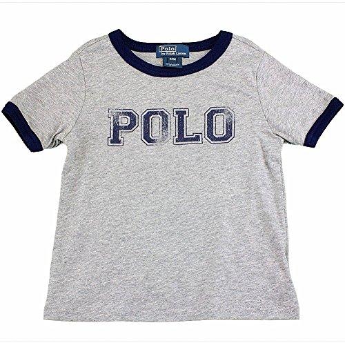 Ralph Lauren Infants Boys Jersey 'Polo' Print Ringer T-shirt 18M Dark Sport Heather