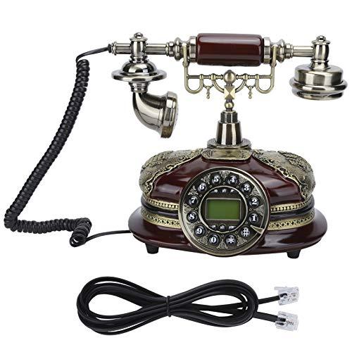 Goshyda Teléfono Fijo Teléfono Fijo, Vintage Teléfono Fijo FSK DTMF Teléfono Fijo de Sistema Dual con múltiples Funciones, para Hotel de Oficina en casa