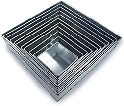 Set of 11 Tier Square Multilayer Birthday/Wedding Anniversary Cake Tins/Cake Pans/Cake Moulds 4