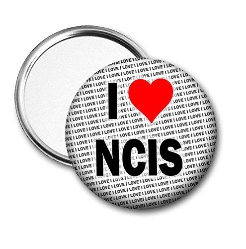 """Taschenspiegel, Aufschrift""""I Love NCIS"""", Geschenk für Geburtstag, Strumpffüller"""