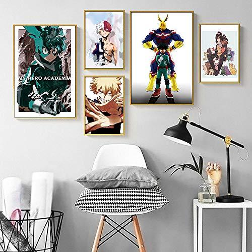 YWOHP Póster de Pintura de Anime japonés para Colgar en la Pared, Cuadro de Lienzo, decoración del hogar, Pegatina de pared-60x90cm