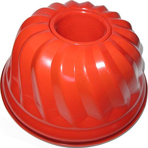 Format Zenker Gugelhupfform, traditionelle Backform für köstlichen Gugelhupf, Backform mit Antihaftbeschichtung Ø 23cm (Farbe rot/braun)