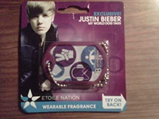 EXCLUSIVE Justin Bieber MY WORLD WEARABLE FRAGRANCE DOG TAGS - ICON STYLE!