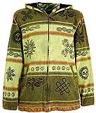 Guru-Shop Goa Jacke, Ethno Kapuzen Jacke, Herren, Lemon, Baumwolle, Size:L, Jacken, Strickjacken, Ponchos Alternative Bekleidung