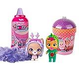 Pack de 2 Cápsulas: 1 Bebés Llorones Lágrimas Mágicas Tutti Frutti mini muñeca que llora + 1 VIP Pets perrita a peinar