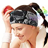 Sleep Headphones Bluetooth Headband, Wireless Sleeping Headphones Music Sport Headbands, Long Time Play Sleeping Headsets Built-in Thin Speakers, Skulls Design for Sleeping Running YOG