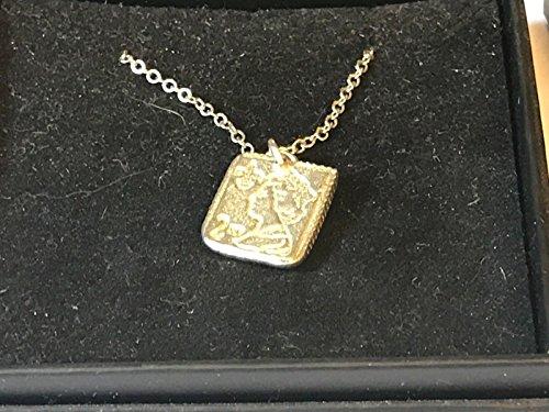 2. Klasse Stempel tg136feines englisches Zinn auf einem 50,8cm, versilberte Panzerkette Halskette geschrieben von uns Geschenke für alle 2016von Derbyshire UK