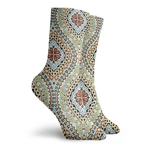 NGMADOIAN sokken kunst, patroon, Marokkaans tapijt, print schilderij Svetlana Novikova Athletic Long Crew sokken voor mannen vrouwen 11,8 inch (30 cm)