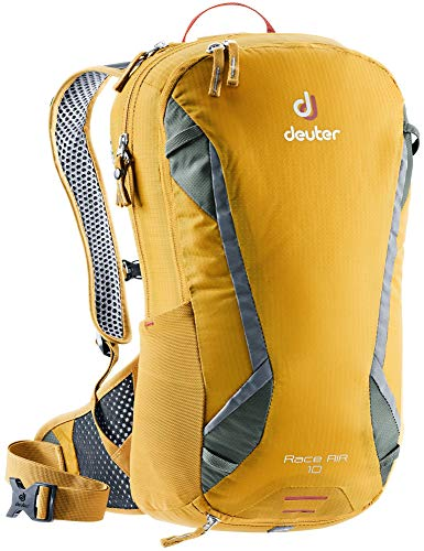 Deuter Unisex-Adults-Adults Race Air Fahrrad Rucksack, Curry-Ivy, 10