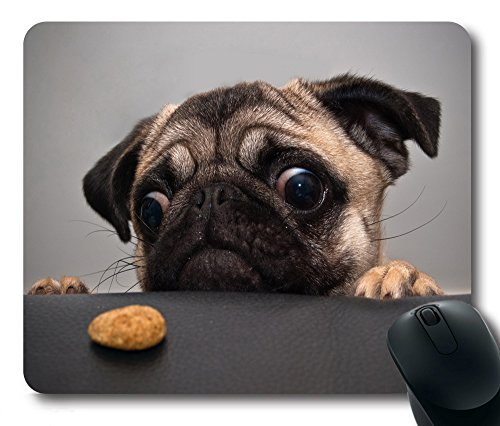 iMiMi Lovely Pug Dog Gaming Mouse Pad Non-Slip Rectangle Mouse Mat in 220mm180mm3mm (9'7')