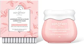 Dot & Key Underarm Detox & Color Correction Mask, 100g, charcoal mask for even toned underarms for women - Paraben Free