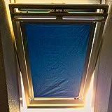 eXsun Sonnenschutz für Roto 7/14 = 52 x 118 cm - Dachfenster Rollo Hitzeschutz Verdunkelungsrollo Sonnenrollo Verdunkelung - mit Krafthaftsaugern - ohne Bohren - kein Nageln - kein Schrauben