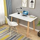 LWW Mesas, patas de madera, muebles para informática Escritorios soportes portátiles de oficina del hogar de escritorio simple montaje multifuncional,T5,90x60x75cm