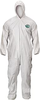 Lakeland MicroMax Microporous General Purpose Disposable Coverall with Hood, Elastic Cuff, 2X-Large, White (Case of 25)