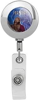 Farscape Crew Zhaan and Ka D'Argo Aliens Retractable Reel Premium Metal Chrome Badge ID Card Holder Clip
