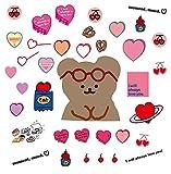 YMSD Pegatinas de equipaje Corea Mazzzzy Pink Love Ins Wind Notebook Stickers Set Pcs