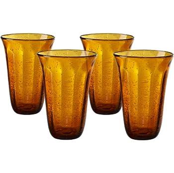 yellow drinking glass