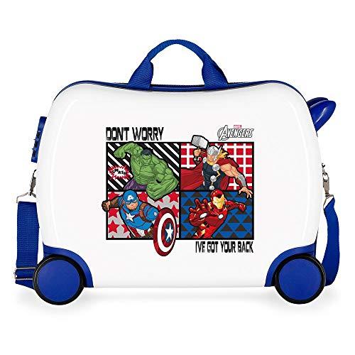 Marvel Los Vengadores All Avengers Maleta Infantil Multicolor 50x38x20 cms Rígida ABS...
