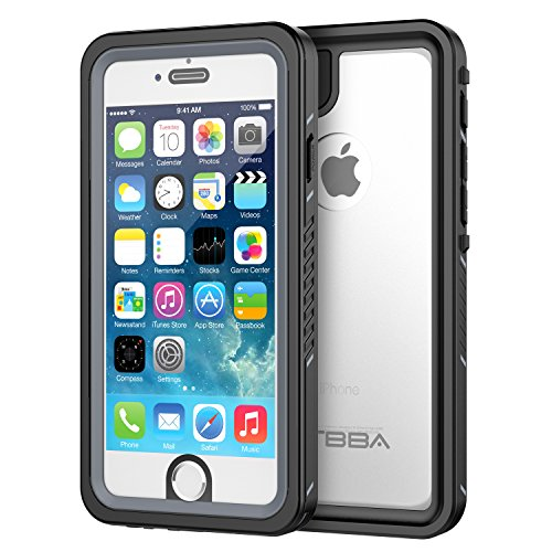 iPhone 6/6s Waterproof Case, OTBBA Sandproof IP68 Certified with Touch ID Shockproof Snowproof Full Body Cover for iPhone 6/6s (Clear)