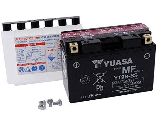 YUASA batterij YT 9 B-BS onderhoudsvrij (AGM) Prijs incl. wettelijke garantie op batterijen € 7,50 incl. BTW