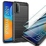 AROYI Huawei P Smart 2021 Hülle + [2 Stück] Panzerglas