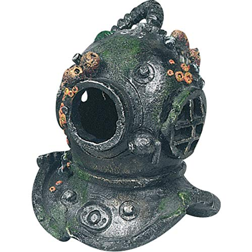 AQUARIUM DEKORATION COUSTEAU TAUCHERHELM S