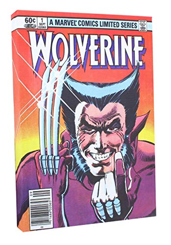 Toynk Marvel Comic Cover 9 x 5 Inch Canvas Wall Art | Wolverine #1