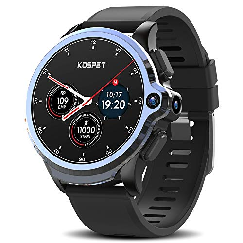 """KOSPET Smart Watch, GPS Android Smartwatch, Prime 4G LTE with 1.6"""" Touch Screen, Face Unclok Phone Watch with Dual Camera, IP68 Waterproof Sport Watch, 32GB Fitness Tracker Watch for Men and Women"""