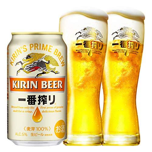 【Amazon.co.jp限定】 キリン一番搾り生ビール【特製グラス2個付き】 [ 350ml×24本 ]