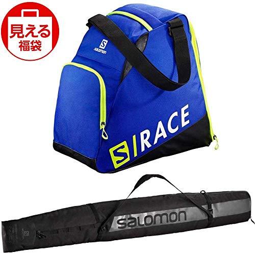 SALOMON(サロモン) スキーバッグセット エクステンドギアバッグ ブルーイエロー & オリジナル 1 ペアー スキースリーブ ブラック