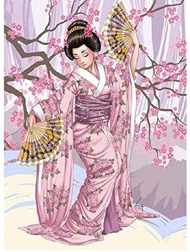 WXLSL Rompecabezas para Adultos Rompecabezas De Madera De 1000 Piezas Patrón De Geisha Japonesa para Adolescentes Y Adultos, Muy Buen Juego Educativo