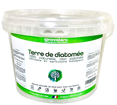 NOVATERA Terre de Diatomée 100% Naturelle - 1,3 kg - Garantie Origine France - Ultrapure - Formats 0,3 à 12 kg - Protection écologique - ECOCERT Utilisable Agriculture Biologique